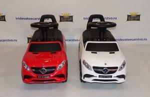 Машинка каталка Mercedes Benz GLE 63 AMG (толокар) 6557 с кожаным сиденьем (Лицензия) в Ростове на Дону красная и белая