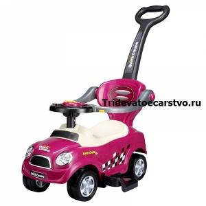 321А - детская машинка каталка для детей от 1 года с ручкой для родителей - мини купер 3 в 1