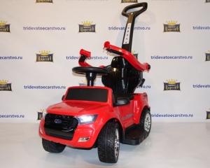 Детская машинка каталка  Ford Ranger DK-P01 с родительской ручкой (Лицензия), толокар черный, красный, белый и оранжевый в Ростове на Дону
