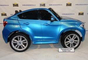 Детский электромобиль BMW X6M - (Лицензия) синий лак