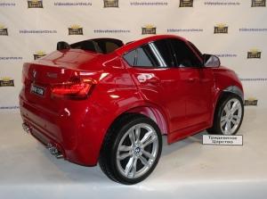 Детский электромобиль BMW X6M - (Лицензия) бордовый лак