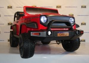Детский электромобиль Jeep Hunter CH9938 4x4 (полный привод) в Ростове на Дону черный и красный цвет