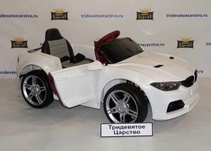 Детский электромобиль BMW M-3 спорт белый, красный и синий ЛАК в Ростове-на-Дону