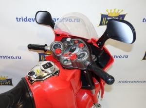 Детский электромотоцикл на пульте управления 3288 в Ростове на Дону красный, синий и жёлтый