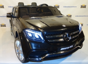 Лицензионный детский электромобиль Mercedes Benz GLS 63 AMG 4x4 полный привод для воих дитей в Ростове на Дону черная и белая