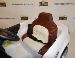 Детский электромобиль BMW 5 серии (525) в Ростове на Дону кожаное сиденье с ремнем безопасности