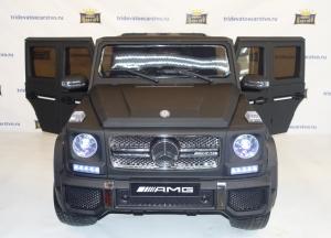 Детский электромобиль Mercedes G65 AMG синий и черный матовый в Ростове на Дону