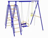 Игровой комплекс - Непоседа-Дачник № 4  с качелями на цепях/подшипниках