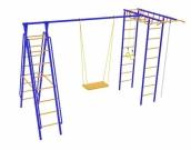 Игровой комплекс - Непоседа-Дачник № 6 с рукоходом и наклон. лестницами