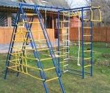 Игровой комплекс - Непоседа-Дачник № 8 с рукоходом и накл. лест. и сеткой