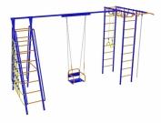 Игровой комплекс - Непоседа-Дачник № 8 с качелями на цепях, на подшипниках