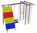 Игровой комплекс - Непоседа-Дачник № 7 с рукоходом, скалодромом и качелями на подшипниках