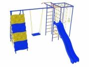 Игровой комплекс - Дачник «Галактика» с прямоугольной сеткой и качелями на цепях