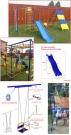 Игровой комплекс - Непоседа-Дачник Радуга ПЛЮС с расширенной рамой