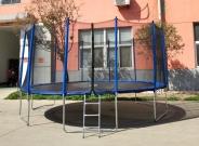Батут Trampoline 16' ft 488 см с защитной сеткой