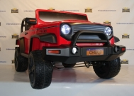 Детский электромобиль Jeep Hunter CH9938 red - 4x4