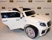 Автомобил - Детский электромобиль Mercedes Benz GL63 AMG белый с подсветеой колес в Ростове на Дону