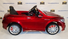 Детский электромобиль Mercedes benz S63 AMG крашенный черный и бардовый (красный) глянец в Ростове на Дону