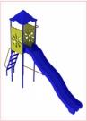 """Игровой комплекс - Горка """"Василек"""" (длина ската 3,0 метра, пластиковые широкие ступеньки)"""
