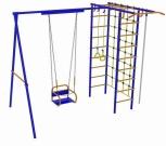 Игровой комплекс - Непоседа-Дачник № 3 с рукоходом и сеткой для лазания с качелями на подшипниках