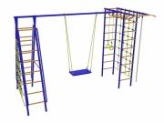 Игровой комплекс - Дачник № 9 с рукоходом, накл. лест. и двумя сетками.
