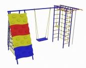 Игровой комплекс - Непоседа-Дачник № 9 с рукоходом, сетками и скалодромом