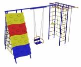 Игровой комплекс - Непоседа-Дачник № 9 с рукоходом, сетками, скалодромом, качелями на подшипниках и цепях