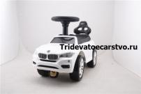 Толокар - машинка каталка BMW с резиновыми колесами