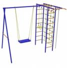 Игровой комплекс - Непоседа-Дачник № 3 с рукоходом и сеткой для лазания