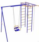 Игровой комплекс - Непоседа-Дачник № 2 с рукоходом  и качелями на подшипниках
